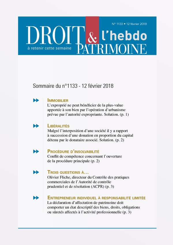 Sommaire n°1133